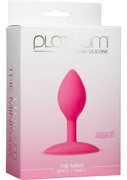 Platinum Silicone The Minis Spade Butt Plug Pink Small
