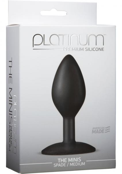 Platinum Silicone The Minis Spade Butt Plug Black Medium
