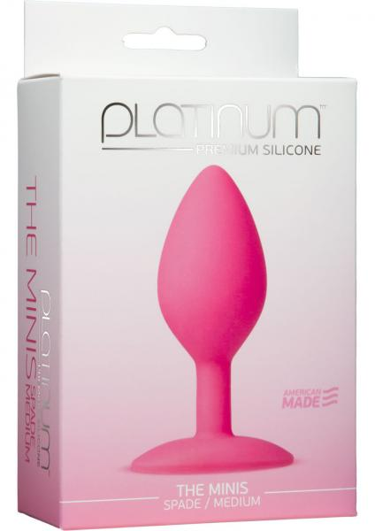 Platinum Silicone The Minis Spade Butt Plug Pink Medium