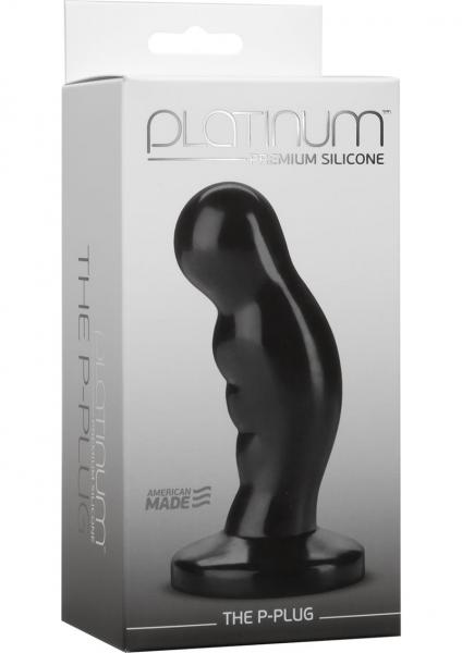 Platinum Silicone The P Plug Prostate Massager Black