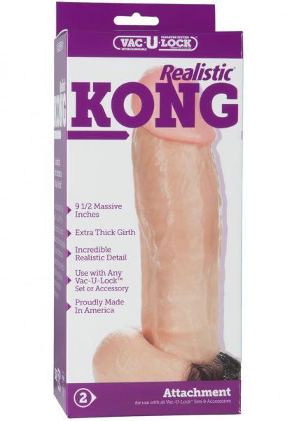 """Vac-U-Lock 9.5"""" Realistic Kong Dong"""