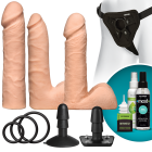 Vac-U-Lock Dual Density Ultraskyn Vanilla Beige Set Sex Toy Product
