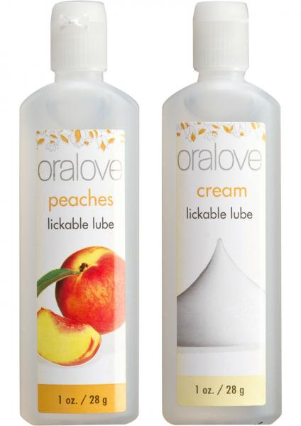 Oralove Delicious Duo Lickable Peaches And Cream Lubes