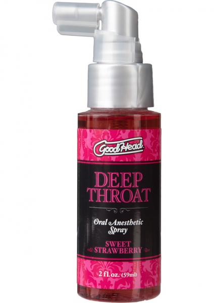 Goodhead Deep Throat Oral Spray Sweet Strawberry 2oz