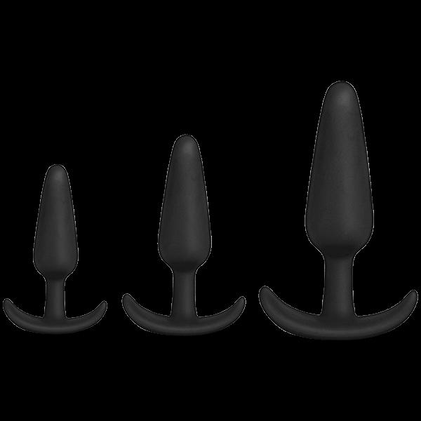 Mood Naughty 1 Trainer 3 Plugs Set Black