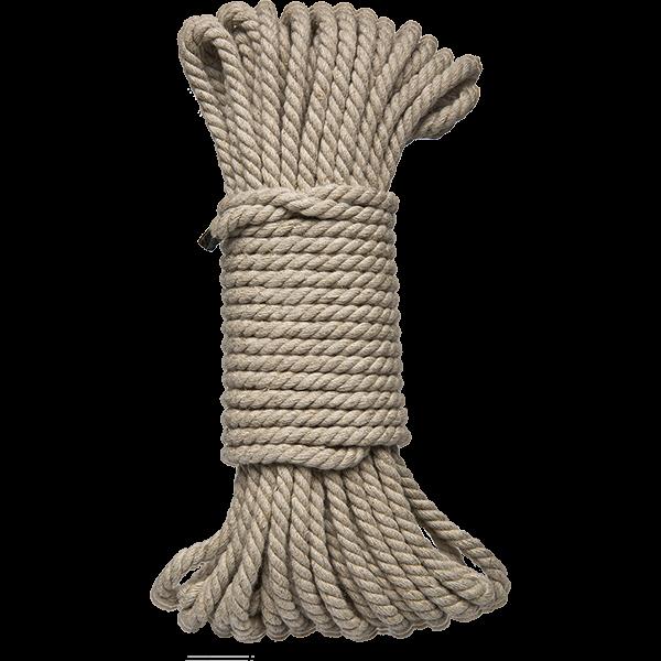 Kink Bind And Tie Hemp Bondage Rope 50 Feet Natural