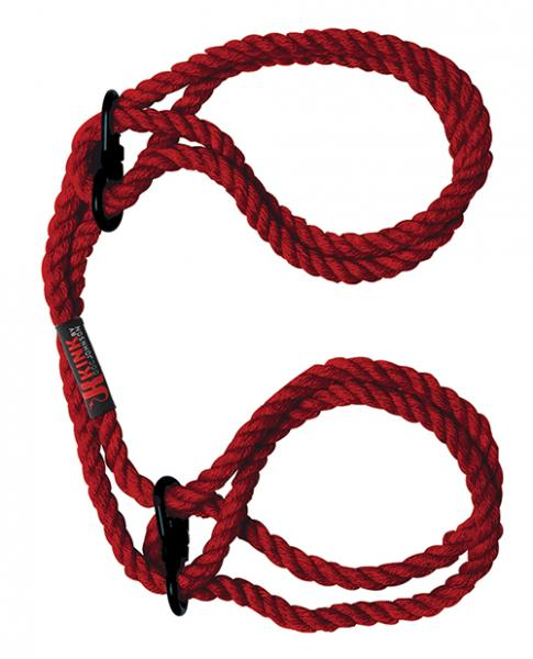 Kink Hogtied Bind & Tie Hemp Wrist Or Ankle Cuffs Red