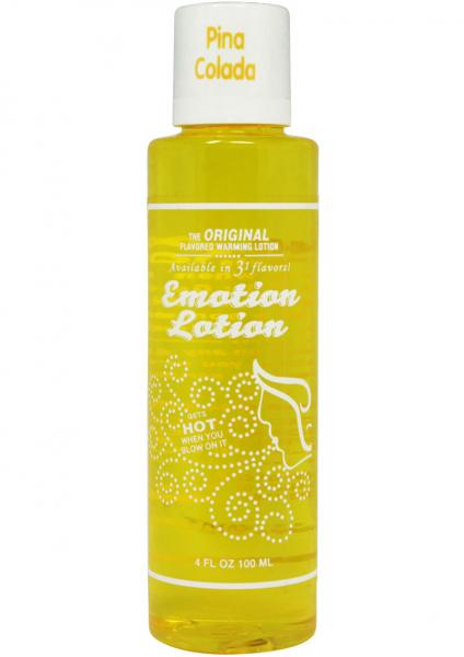 Emotion Lotion Flavored Water Based Warming Lotion Pina Colada