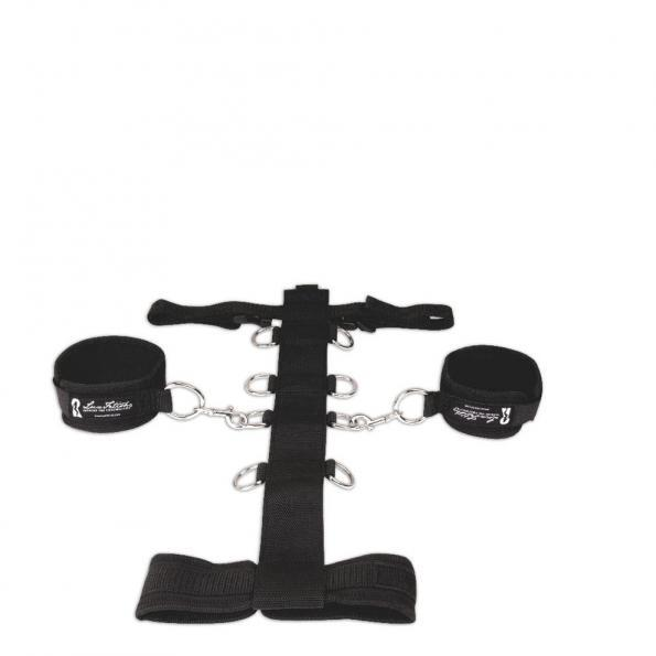 Lux Fetish Adjust Neck And Wristraint Set 3 Piece Black