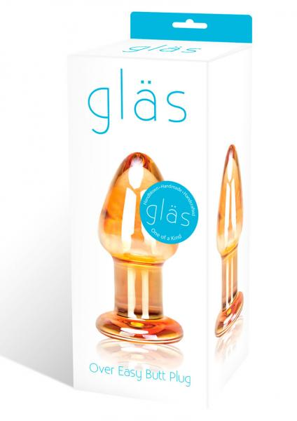 Glas Over Easy Glass Butt Plug
