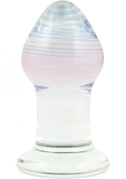 Glas Amythyst Rain Glass Butt Plug