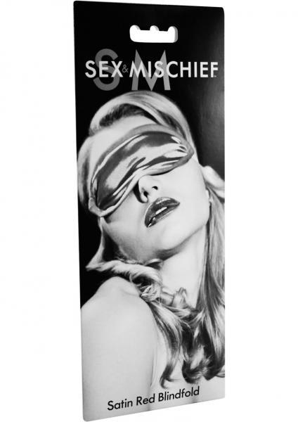 Sex & Mischief Satin Red Blindfold