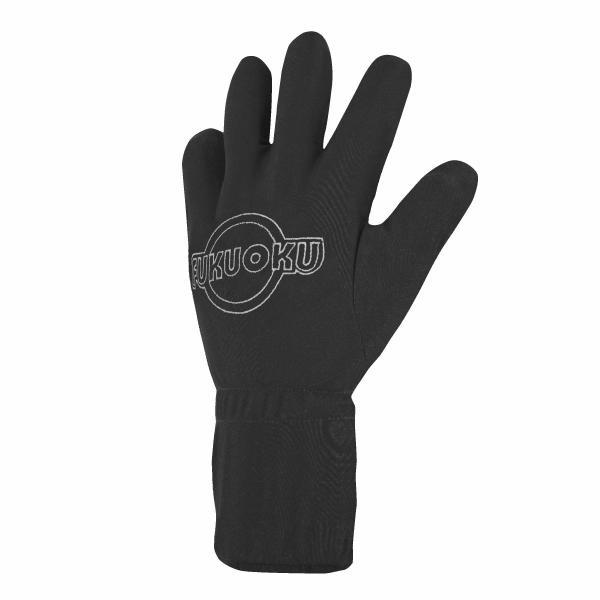 Five Finger Massage Glove Left Hand - Medium - Black