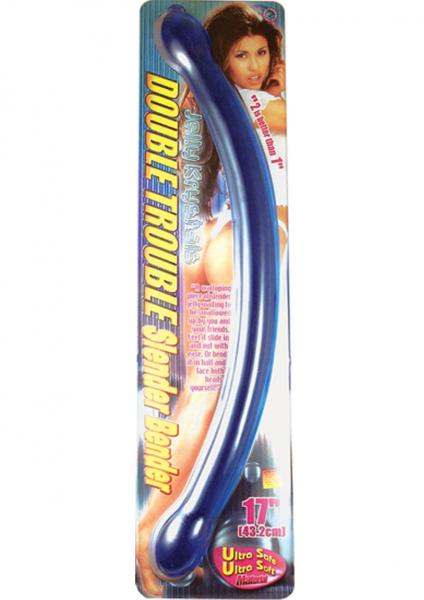 Double Trouble Slender Bender 17 inches Blue