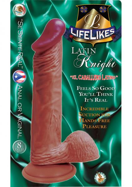 Lifelikes Latin Knight Dildo 8 Inch Flesh