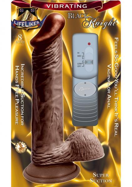 Lifelikes Vibrating Black Knight Vibrator 8 Inch Brown