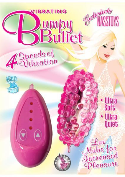 Vibrating Bumpy Bullet 4 Speed Waterproof 3 Inch Pink