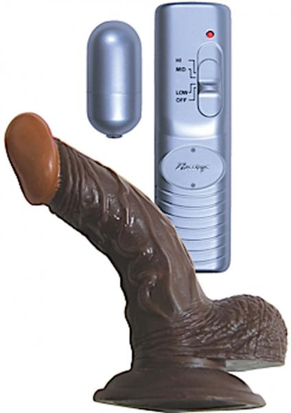 All American Whopper 5 inches Vibrating Dildo, Balls Brown