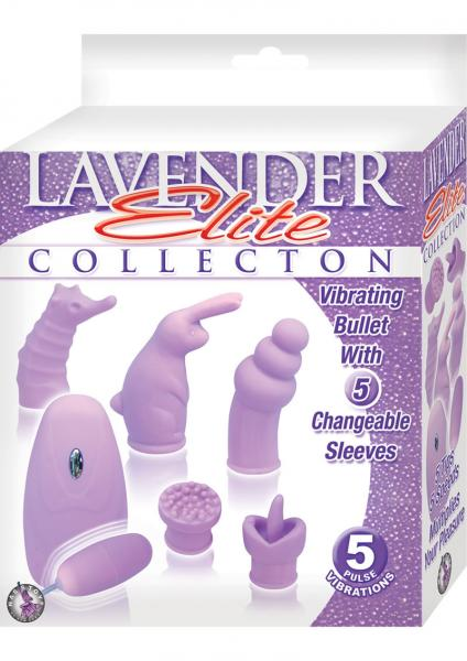 Elite Collection Vibrating Bullet 5 Changeable Sleeves - Purple