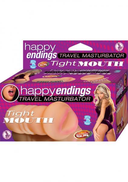 Happy Endings Travel Masturbator Tight Mouth Masturbator Waterproof Flesh