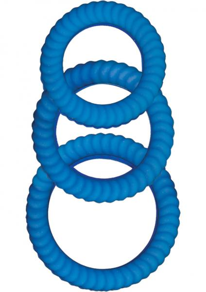 Ram Ultra Cocksweller Silicone C Rings Blue