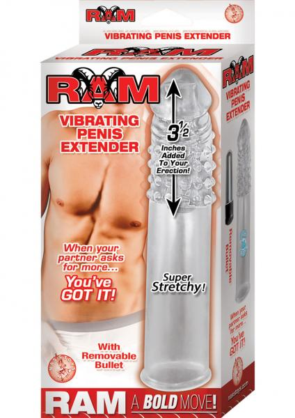 Vibrating Penis Extender Clear 7.5 Inch