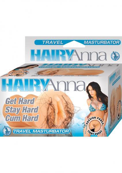 Hairy Anna Travel Pussy Masturbator Waterproof Flesh 5.5 Inch