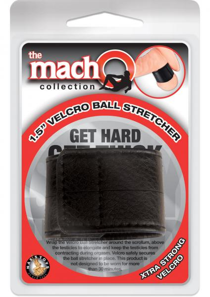 Macho Velcro Ball Stretcher Black 1.5 Inch