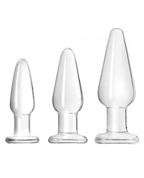 Crystal Glass Anal Trainer Tapered Kit Clear