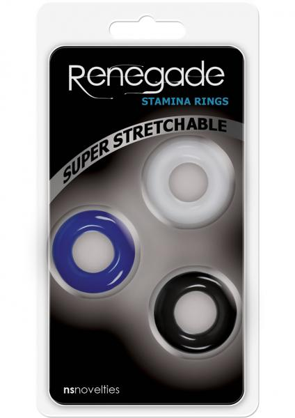 Renegade Stamina Rings Set 3 Assorted Colors