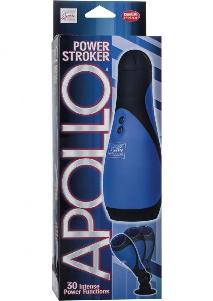 Apollo Power Stroker Masturbator 8.5 Inch - Blue