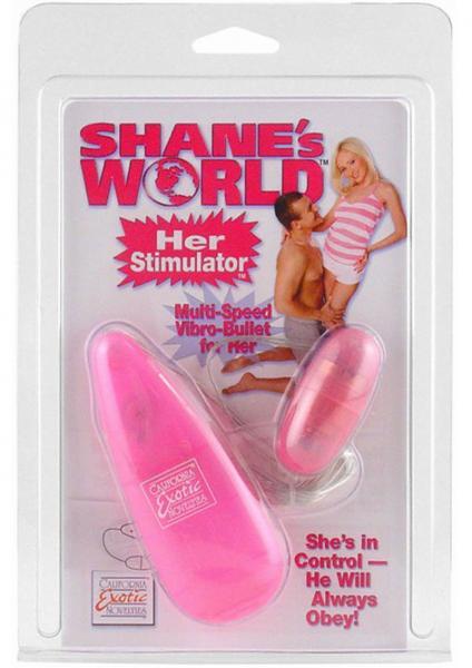 Shanes World Her Stimulator Vibro Bullet - Pink