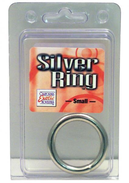 Silver Cock Ring Small 1.25 Inch Diameter Silver