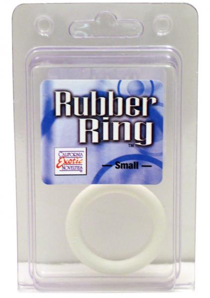 Rubber Cock Ring Small 1.75 Inch Diameter White