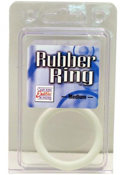 Rubber Cock Ring Medium 2 Inch Diameter White