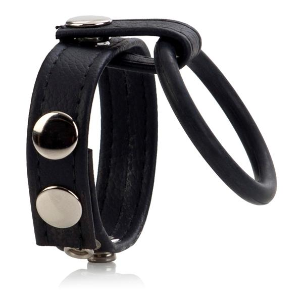 Ball Spreader Adjustable Leather Strap With Ring Medium Black