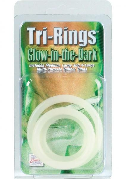 Tri Rings - Glow In The Dark Cock Ring Set