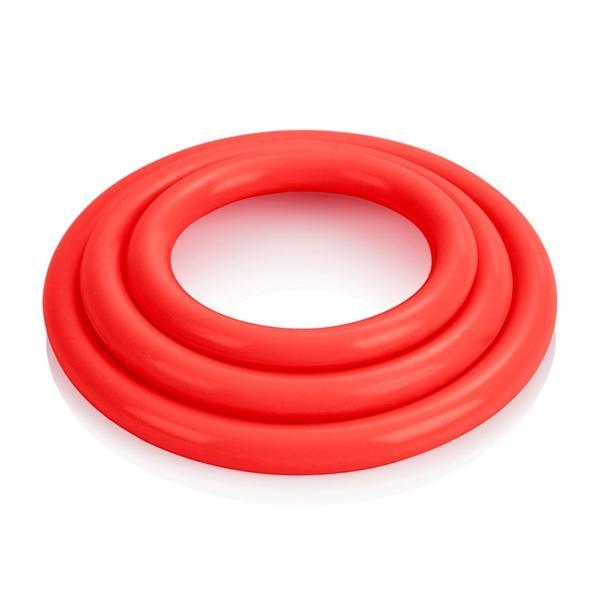Tri-Rings Red Cock Ring Set