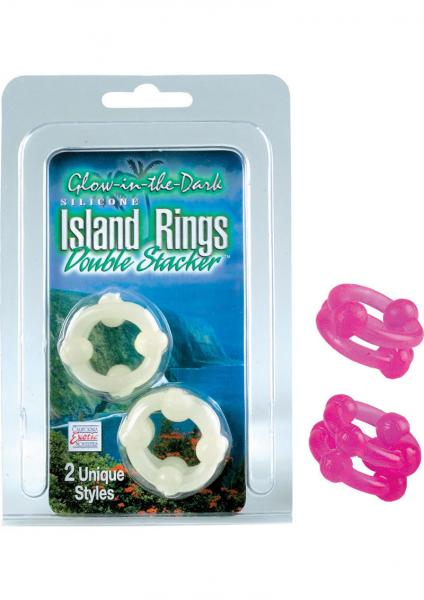 Island Rings Double Stacker Pink 2 Styles