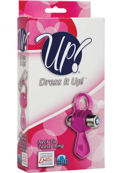 Up Dress It Up Neck Tie Teaser Ring Cockring Waterproof Pink