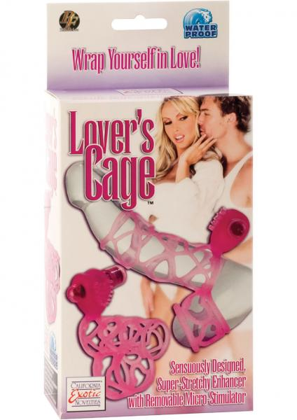 Lovers Cage With Removable Micro Stimulator Waterproof 3 Inch Pink