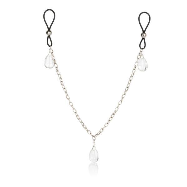 Nipple Play Non Piercing Nipple Chain Crystal