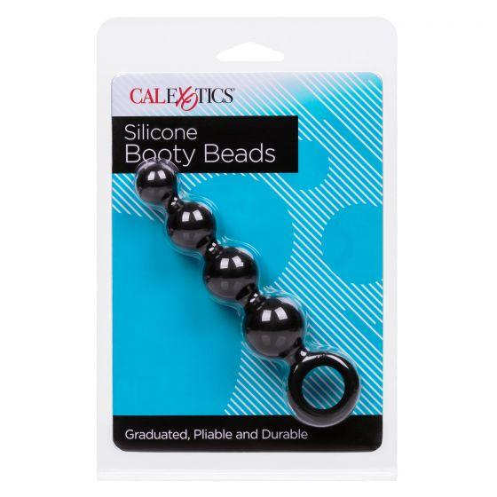 Silicone Booty Beads Black 4.5 Inch