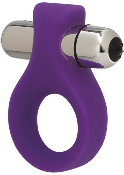 Embrace Lovers Ring Silicone Cockring Waterproof Purple