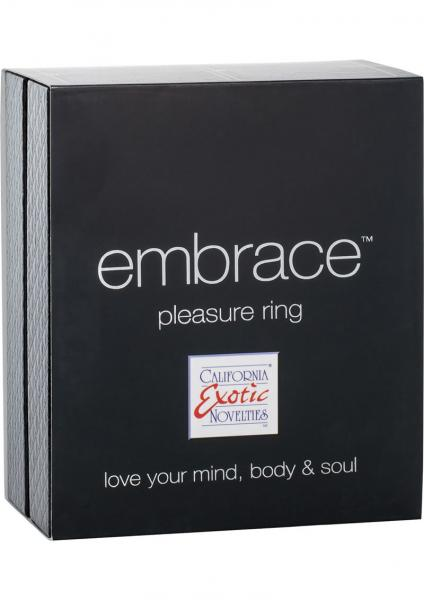 Embrace Pleasure Ring Silicone Vibrating Cockring Waterproof Grey