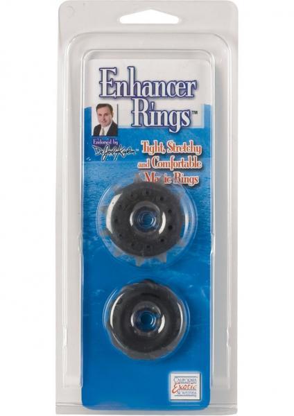 DR JOEL KAPLAN ENHANCER RINGS SET OF 2 BLACK SILICONE