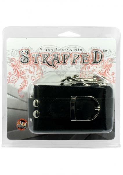 Strapped Plush Restraints Black