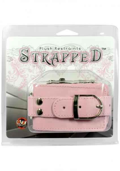 Strapped Plush Restraints Pink