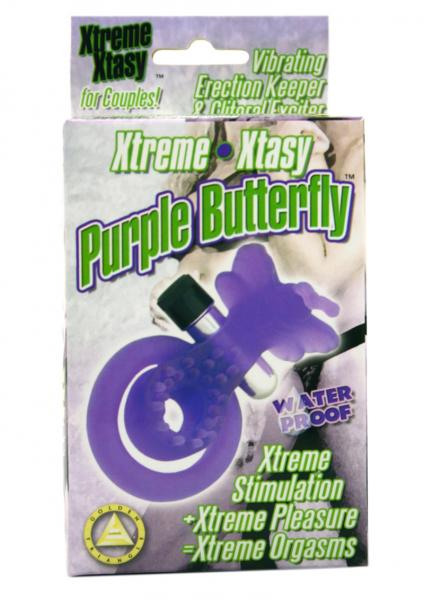 Xtreme Xtasy Butterfly Couples Ring - Purple