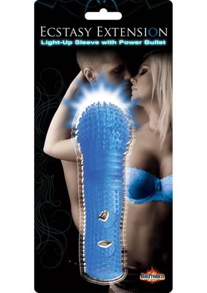 Ecstasy Extension Penis Sleeve Blue